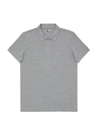 Lee Cooper Lee Cooper Gri Melanj Polo Yaka Erkek T-Shirt Gri